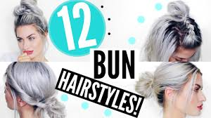 Easy On The Go Hairstyles by 12 Heatless Bun Hairstyles Quick U0026 Easy Lyssryann Youtube