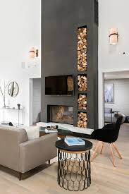 Livingroom Modern This Modern Living Room Turns Its Firewood Storage Into An Eye