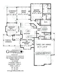 cottage home floor plans home plans for a view garden view cottage house plan floor plan