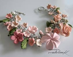 handmade flower bracelet images The 159 best fimo flowers polymer clay handmade images on jpg