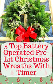 best battery operated pre lit wreath with timer living