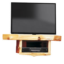 Wall Mounted Dvd Shelves by Log Corner Tv Shelf With Dvr Dvd Shelf