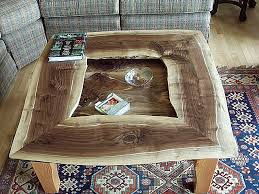 Custom Coffee Table by Live Edges Were Maintained All Around For This Custom Coffee Table