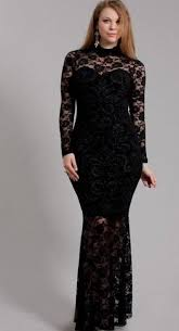 black formal dress plus size