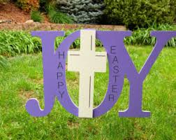 Wood Yard Decorations For Easter by Wood Cross Outdoor Decoration Etsy