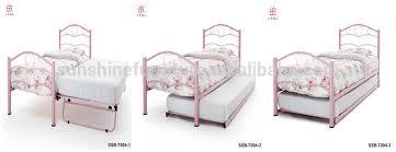 white pink black metal bedroom furniture twin trundle bed frame