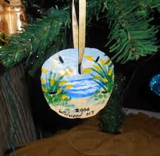 passionate about crafting handpainted sand dollar holiday ornaments