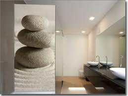 glastüren badezimmer wellness motive auf milchglasfolie gedruckt über glastür