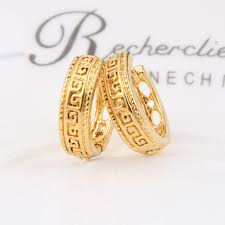 popular cheap gold rings for men buy cheap cheap gold bangrui gold color ear hook stud earrings jewelry for men women