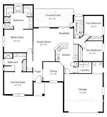 terrific 3 bedroom house floor plans single story pictures