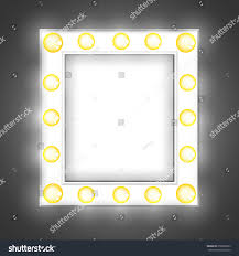 Dressing Room Mirror Lights White Mirror Dressing Room Light Bulbs Stock Vector 350860673