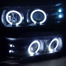 2001 chevy silverado fog lights chevy silverado 99 02 halo led projector headlights chrome