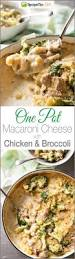 baked macaroni cheese with chicken u0026 broccoli one pot