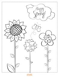 spring coloring u2013 giggle magazine