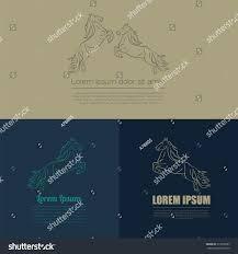 horse logo badges templates vector illustration stock vector