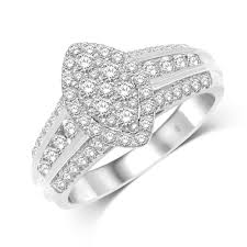 10k wedding ring 10k white gold 1 ct tw engagement ring unclaimed diamonds