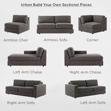 build your own urban sectional pieces west elm