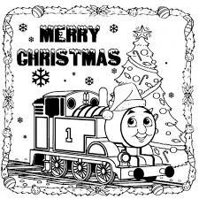 thomas train merry christmas coloring pages