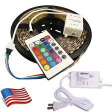 tape lights with remote 10 meters rgb led strip lights kit 10m b rgb 5050 rgb cntl 6amp pwr