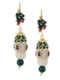 pachi work earrings buy pachi work earrings online at jaypore