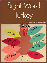 thanksgiving emergent readers sight word for the measured