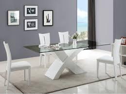 ensemble table chaise ensemble table en verre 4 chaises hollis coloris blanc