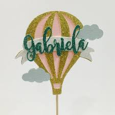 air cake topper personalized hot air balloon cake topper hot air balloon cake