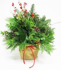 christmas burlap sack natural burlap bag filled with evergreen