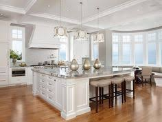 large kitchen ideas splendid oversized island with butcher block top and skylights above