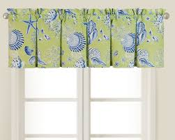 Kitchen Valance Ideas Kitchen Holded Cotton Beach Pattern Window Valance With Big