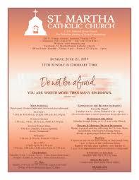st martha catholic church bulletins