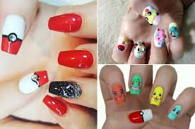 easy nail art characters flaunt your favorite pokemon characters with these nail art ideas