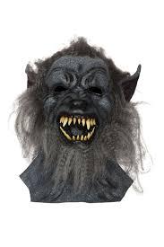 Wolf Mask Grey Hairy Wolf Mask Werewolf Halloween Horror Fancy Dress