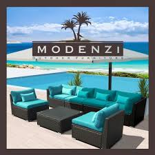 7pc outdoor patio furniture rattan wicker sectional sofa chair