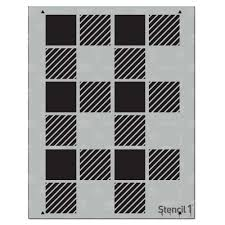 64 Best Moroccan Stencil And by Stencil1 Plaid Medium Repeat Pattern Stencil S1 Pa 39 The Home Depot