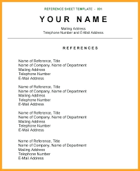 resume reference template resume exle reference page for resume references template