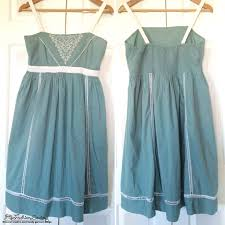 design pattern of dress re design dull dress with lace crochet eco fashion sewing