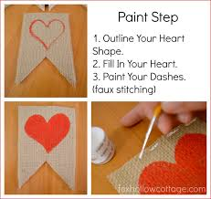 valentines banner s day banner in burlap a tutorial fox hollow cottage