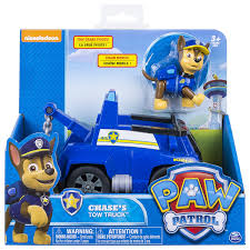 amazon com paw patrol chase u0027s tow truck figure and vehicle