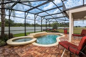 Florida House Plans With Pool Plan 2003 Modeled U2013 New Home Floor Plan In Mirabella By Kb Home