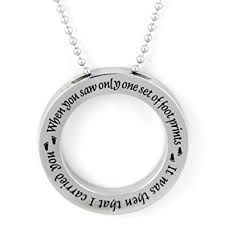 footprints in the sand gifts footprints in the sand disc necklace pendant charm