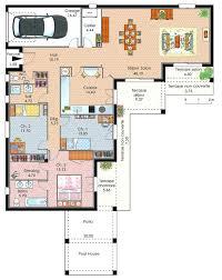 plan maison plain pied 2 chambres garage pin plans maisons plain pied plan de maison chambres et garage