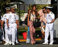 Flag Officer In Command Philippine Navy 65th Miss Universe Candidates Visit Philippine Navy Hq Missosology