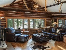 cozy lake front 1950 u0027s log home republic upper peninsula michigan