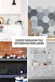 white kitchen cabinets with hexagon backsplash 15 edgy hexagon tile kitchen backsplashes shelterness