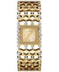 crystal bracelet watches images Lyst guess women 39 s crystal accent gold tone bracelet watch 37mm jpeg