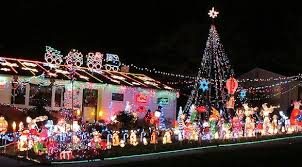 Christmas Decorated Houses Tacky Christmas Statue Decorations Hoarder House 2 Home U0026 Garden