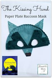 the kissing hand paper plate raccoon mask for kids great back to