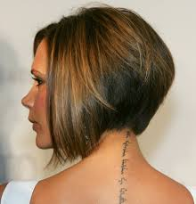bob hairstyle cut wedged in back victoria beckham bob haircut hairstyles weekly
