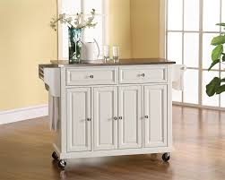 kitchen island cart with stainless steel top buy stainless steel top kitchen cart island in white